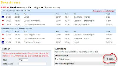 flyg från faro till stockholm